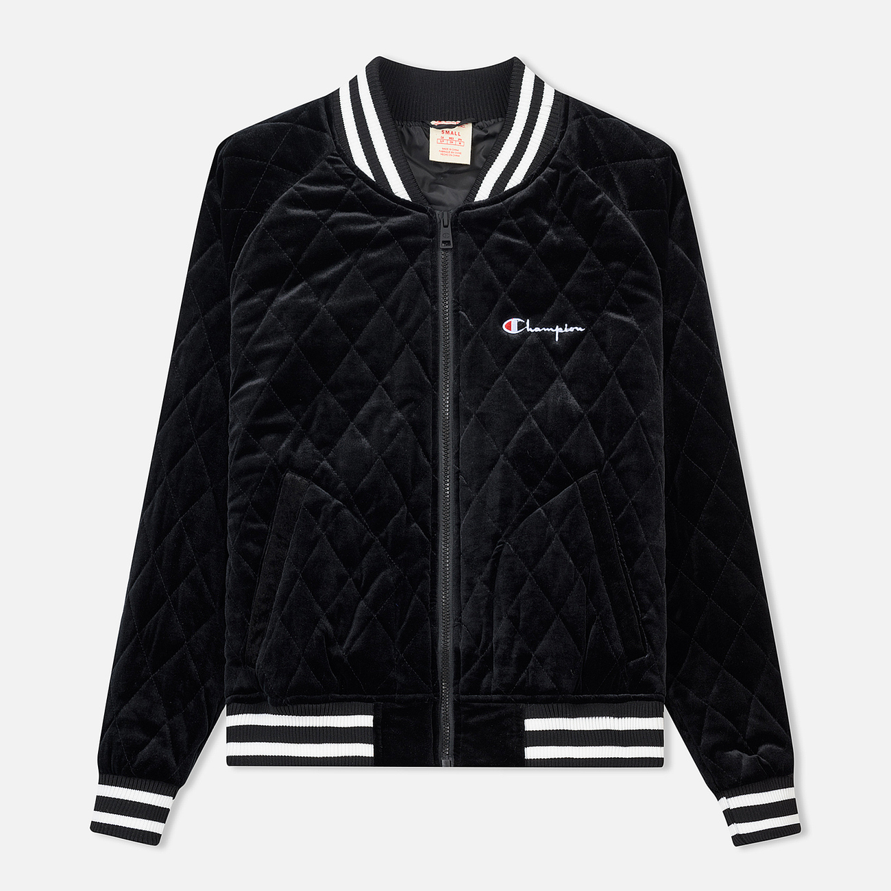 Женская куртка бомбер Champion Reverse Weave Velour Quilted Black