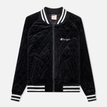 Женская куртка бомбер Champion Reverse Weave Velour Quilted Black фото- 0