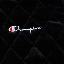 Женская куртка бомбер Champion Reverse Weave Velour Quilted Black фото- 2
