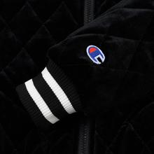 Женская куртка бомбер Champion Reverse Weave Velour Quilted Black фото- 5