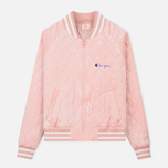 Женская куртка бомбер Champion Reverse Weave Velour Quilted Pink фото- 0