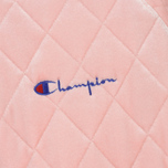 Женская куртка бомбер Champion Reverse Weave Velour Quilted Pink фото- 2