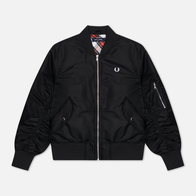 Женская куртка бомбер Fred Perry Cropped MA1 Black