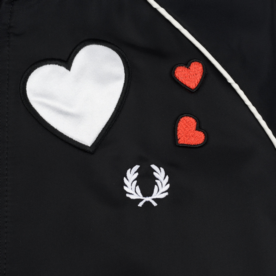 Женская куртка бомбер Fred Perry x Amy Winehouse Heart Black