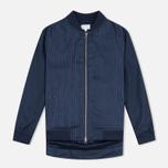 Женская куртка бомбер Gant Rugger Pinstriped Thunder Blue фото- 0