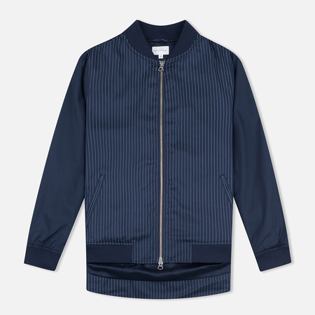 Gant Rugger Pinstriped Women's Bomber Thunder Blue