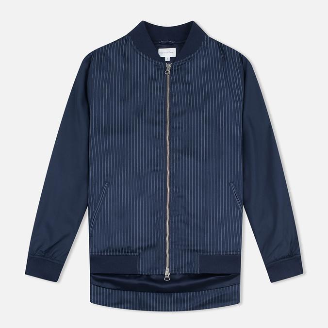 Женская куртка бомбер Gant Rugger Pinstriped Thunder Blue