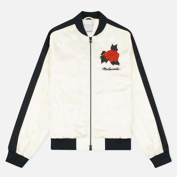 Женская куртка бомбер Maharishi Hanafuda Silk Satin Ecru/Black