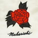 Женская куртка бомбер Maharishi Hanafuda Silk Satin Ecru/Black фото- 3