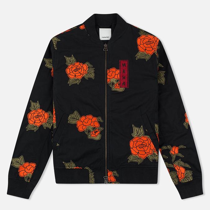 Женская куртка бомбер Maharishi Rozy Embroidery Twill Black