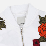 Maharishi Rozy Embroidery Twill Women's Bomber Optic White photo- 2