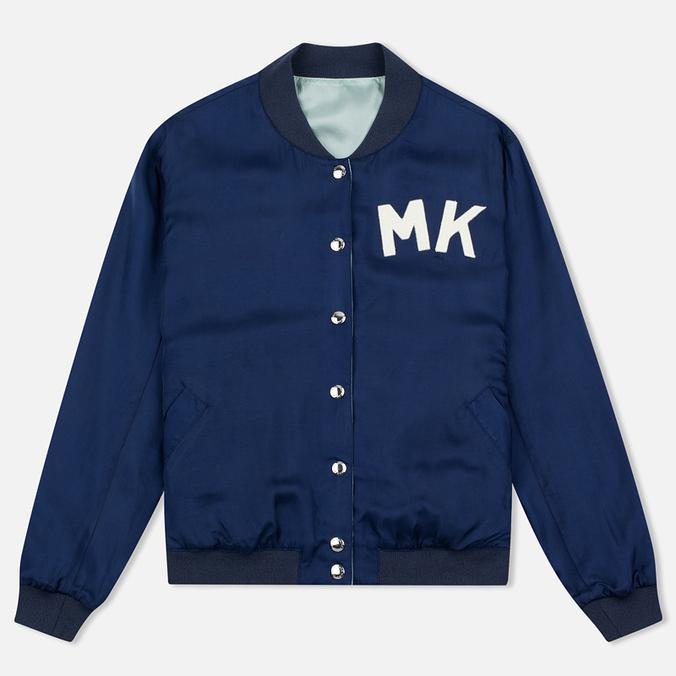 Женская куртка бомбер Maison Kitsune Reversible Teddy Navy