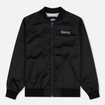 Женская куртка бомбер Stussy California Satin Black фото- 0