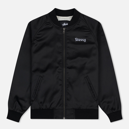 Женская куртка бомбер Stussy California Satin Black