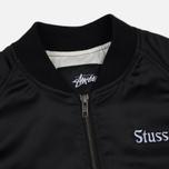 Женская куртка бомбер Stussy California Satin Black фото- 1