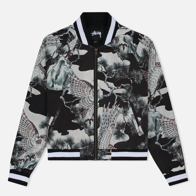 Женская куртка бомбер Stussy Falcon Souvenir Black