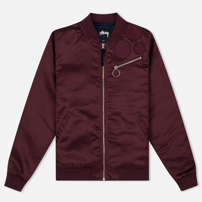 Женская куртка бомбер Stussy Jodie Burgundy
