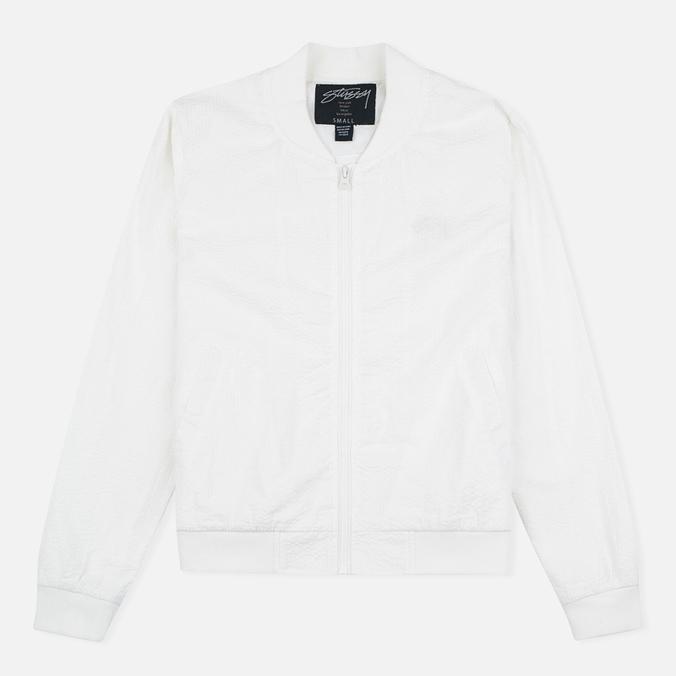 Женская куртка бомбер Stussy Seesucker White