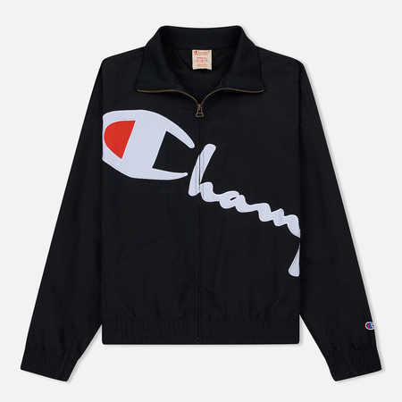 Женская куртка Champion Reverse Weave Vintage Inspired Zip Through Track Black