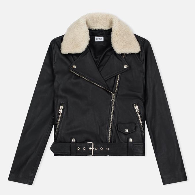 Женская куртка Edwin W' Zoe Leather Sheep Black