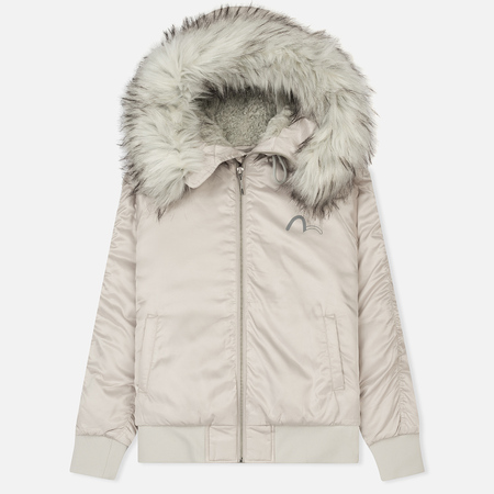 Женская куртка Evisu Padded Det Fur At Fur Silver