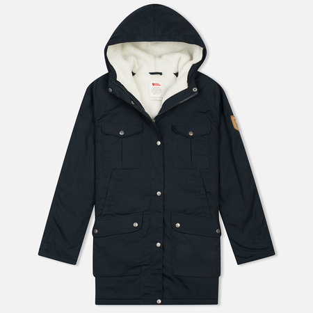 Женская куртка парка Fjallraven Greenland Winter Long Dark Navy