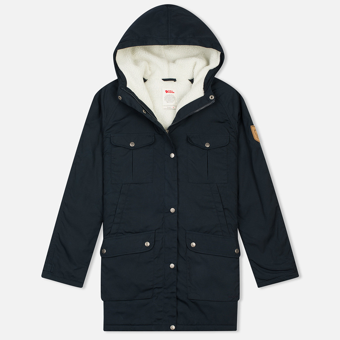 Женская куртка парка Fjallraven Greenland Winter Parka Long Dark Navy