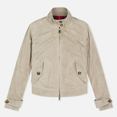 Женская куртка харрингтон Baracuta G4 Modern Classic Suede Leather Sand