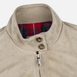 Женская куртка харрингтон Baracuta G4 Modern Classic Suede Leather Sand фото- 2