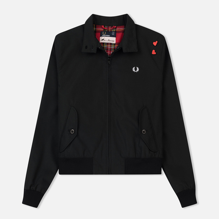 Женская куртка харрингтон Fred Perry x Amy Winehouse Embroidered Black