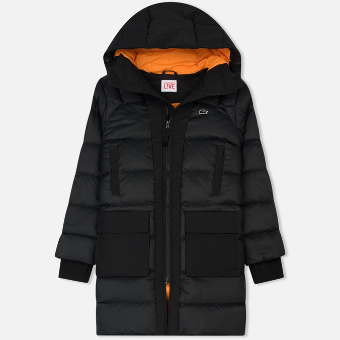 Женская куртка Lacoste Live Hooded Quilted Coat Black/Black