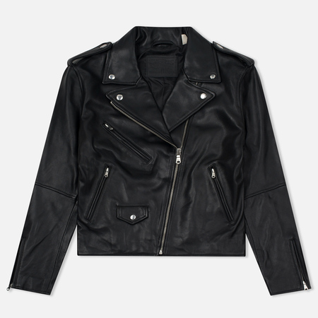 Женская куртка Levi's Relaxed Leather Moto Black