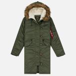 Женская куртка парка Alpha Industries Elyse Sage Green фото- 0