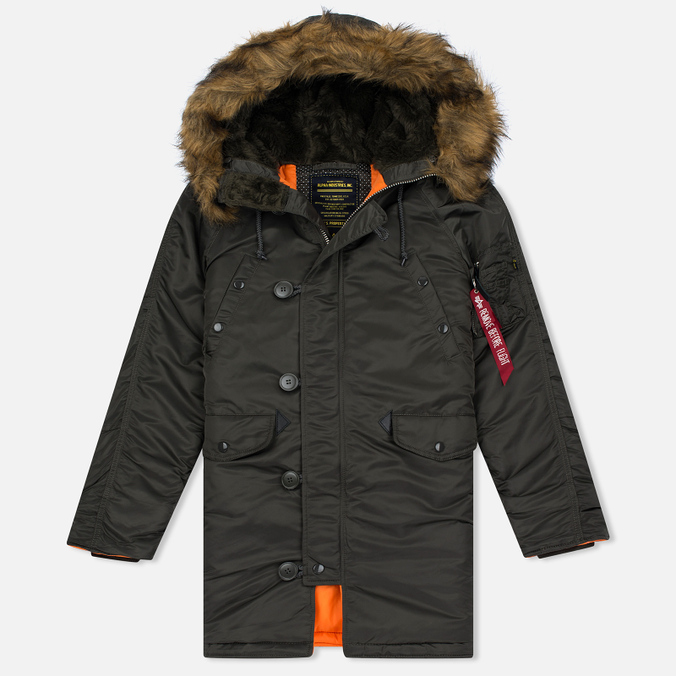 Женская куртка парка Alpha Industries N-3B Replica Grey