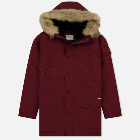 Женская куртка парка Carhartt WIP W' Anchorage 4.7 Oz Mulkberry/Black