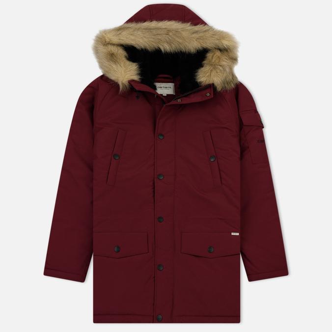 Женская куртка парка Carhartt WIP W' Anchorage 4.7 Oz Mulkberry/Black