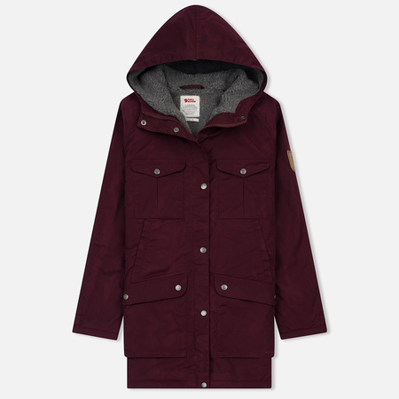 Женская куртка парка Fjallraven Greenland Winter Parka Long Dark Garnet