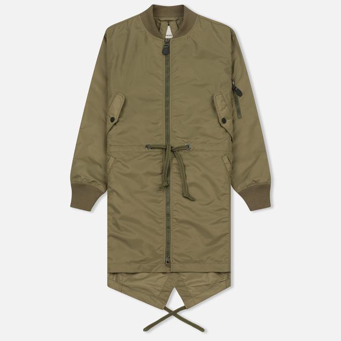 Женская куртка парка maharishi MA Fishtail Maha Olive