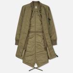 Женская куртка парка maharishi MA Fishtail Maha Olive фото- 1