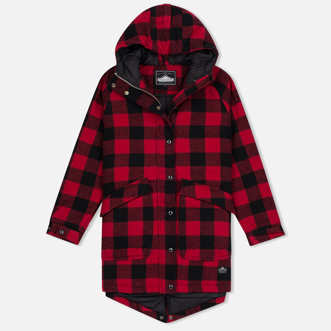 Женская куртка парка Penfield Kingman Buffalo Plaid Red/Black