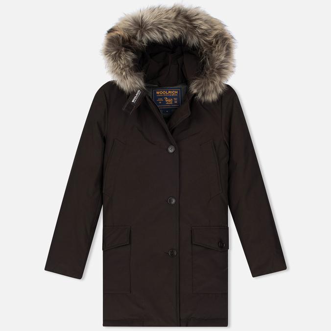 Женская куртка парка Woolrich Arctic DF Wood Brown