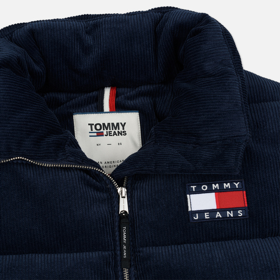 Женский пуховик Tommy Jeans Corduroy Puffer Black Iris