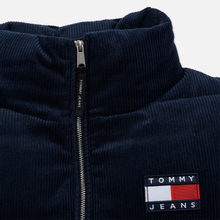 Женский пуховик Tommy Jeans Corduroy Puffer Black Iris фото- 3