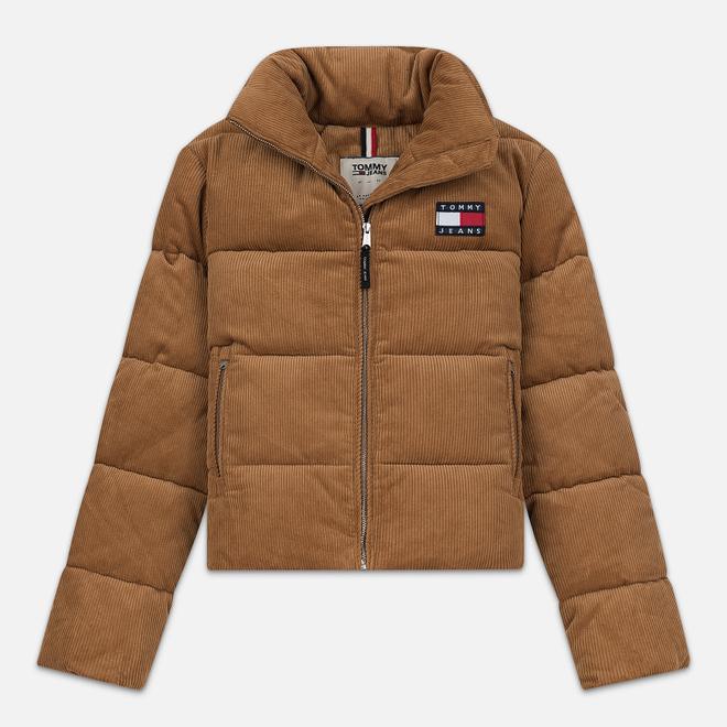 Женская куртка Tommy Jeans Corduroy Puffer Tobacco Brown
