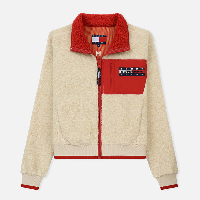 Женская куртка Tommy Jeans Flag Bomber Expedition 6.0 Sherpa