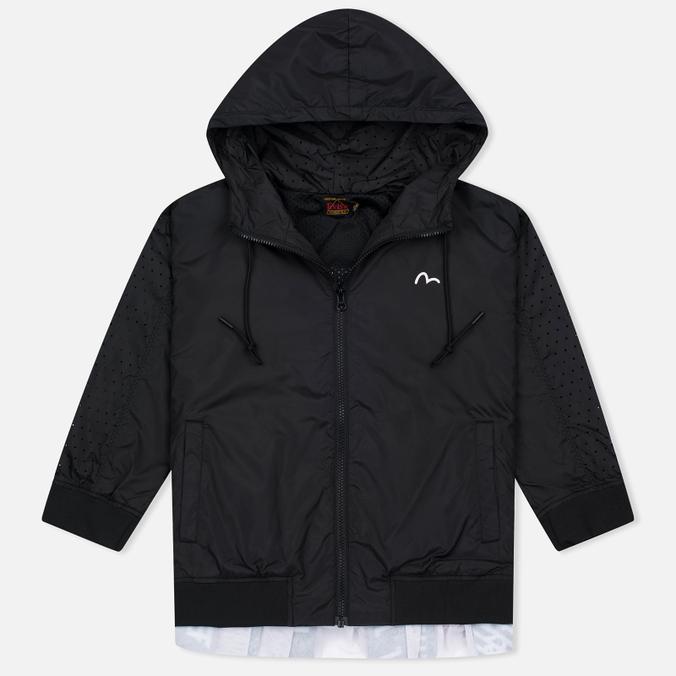 Женская куртка ветровка Evisu Print Pleated Black