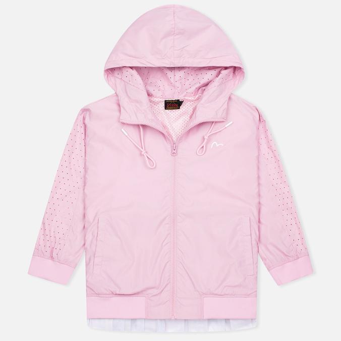 Женская куртка ветровка Evisu Print Pleated Pink