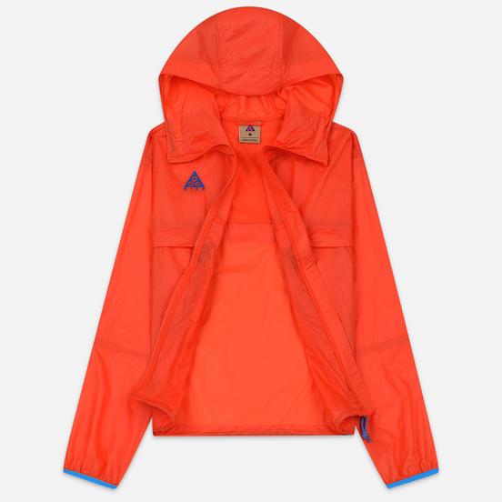Женская куртка ветровка Nike ACG NRG Hoodie Habanero Red