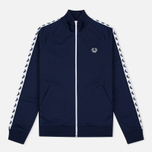 Женская олимпийка Fred Perry Laurel Wreath Tape Carbon Blue фото- 0
