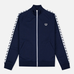 Женская олимпийка Fred Perry Laurel Wreath Tape Track Carbon Blue фото- 0